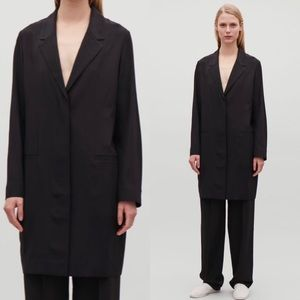 New COS silk button down blazer dress